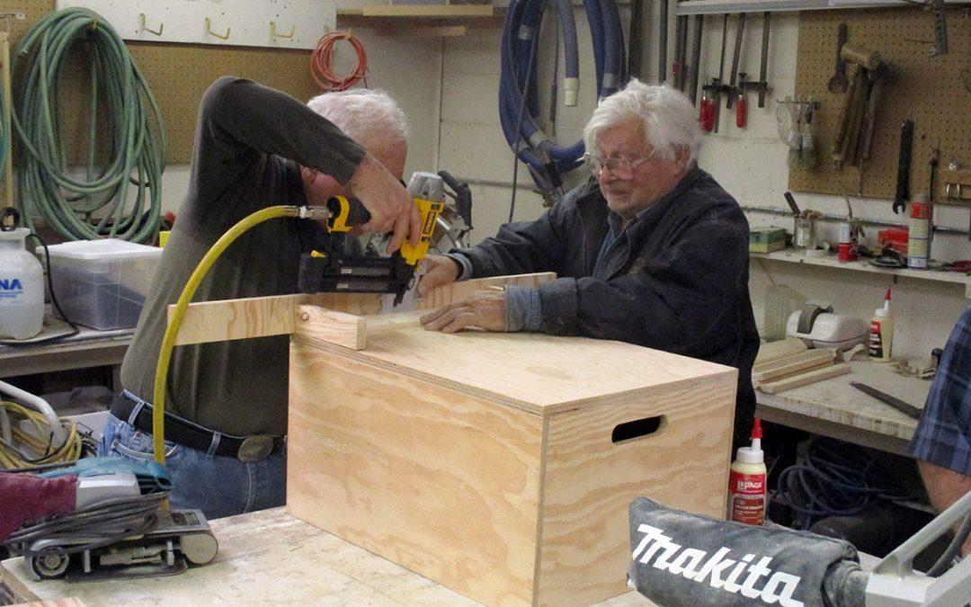 Senior Men Create a Place Where Men Can Socialize